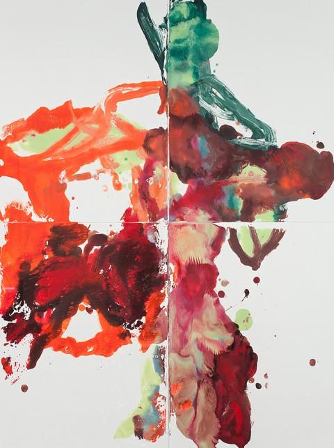 Série Cactos - monoprint sobre papel - 122 x 162 cm - 2011
